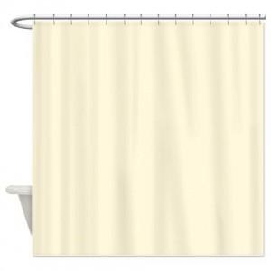 Cornsilk Beige Shower Curtain