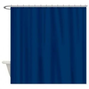 Dark Midnight Blue Shower Curtain
