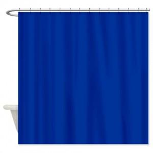 Dark Powder Blue Shower Curtain