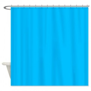 Deep Sky Blue Shower Curtain