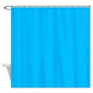 Deep Sky Blue Shower Curtain