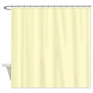 Lemon Chiffon Shower Curtain