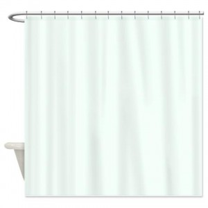 Mint Cream Shower Curtain
