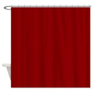 Red Dark Shower Curtain