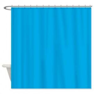 Sky Blue Spanish Shower Curtain