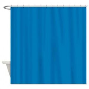 Star Command Blue Shower Curtain