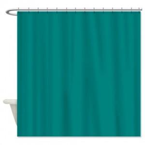 Teal Green Shower Curtain