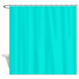Turquoise Bright Shower Curtain