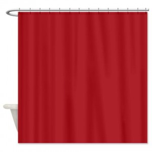 Upsdell Red Shower Curtain