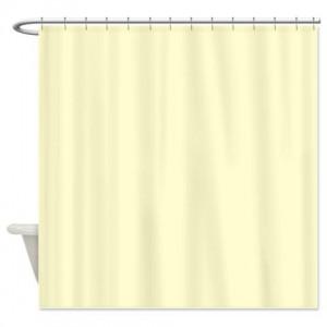 White Cream Shower Curtain