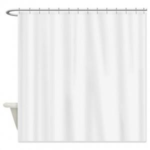 White Smoke Shower Curtain