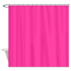 Wild Strawberry Pink Shower Curtain