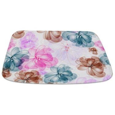Abstract Art Floral Bathmat