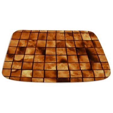 Amber Brown Marble Tiles Bathmat