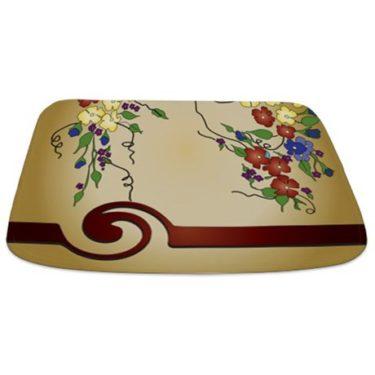 Antique Floral Bathmat