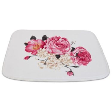 Antique Pink and white Roses Bathmat