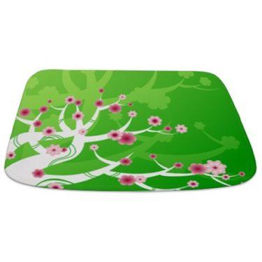Asian Cherry Blossom Tree Bathmat