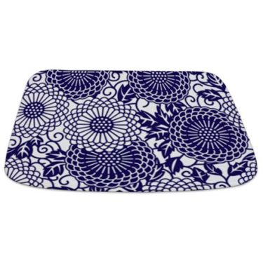 Batik 2c Blue Bathmat