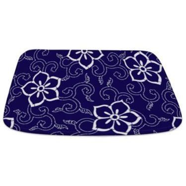 Batik 2h Blue Bathmat