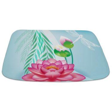 Beautiful Lotus Blossom Bathmat