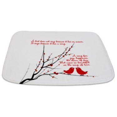 Bird's Song of Love Bathmat