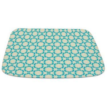 Blue and Beige Pattern 2 Bathmat