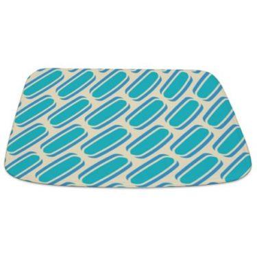 Blue and Beige Pattern 3 Bathmat
