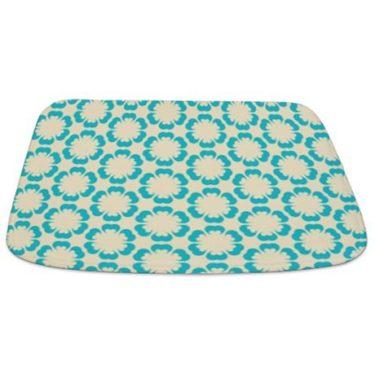 Blue and Beige Pattern 4 Bathmat