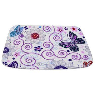 Butterfly Pattern 2 Bathmat