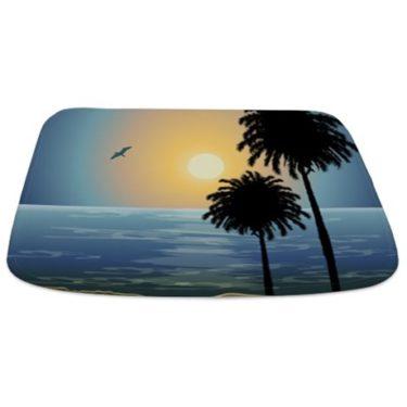 Calm Seashore Sunset Bathmat