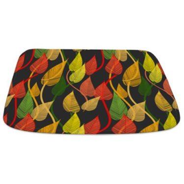 Colorful Leaves 1 Bathmat