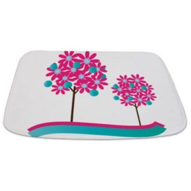 Colorful Modernist Tree 2 Bathmat