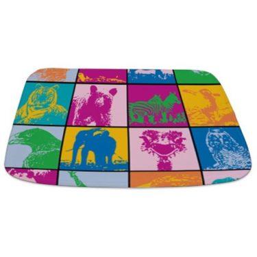 Cute Animal Blocks Bathmat