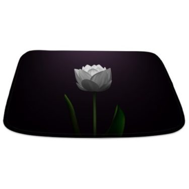 Dark Purple Lotus Blossom Bathmat