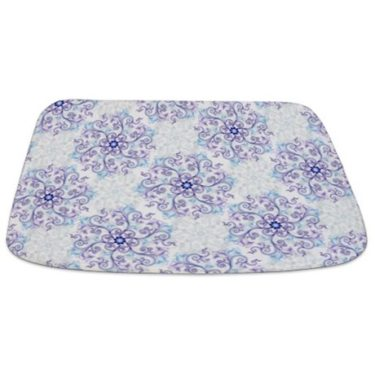Exquisite floral pattern 2 Bathmat