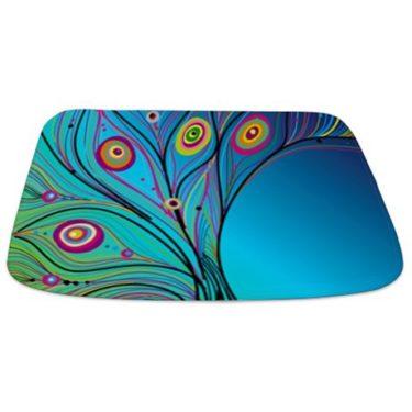 Fantasy Peacock Feather E1 Bathmat