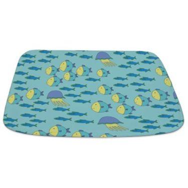 Fish and Jellyfish pattern 1 Bathmat