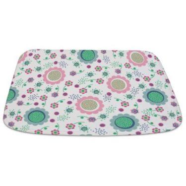 Flower Power Pattern Bathmat