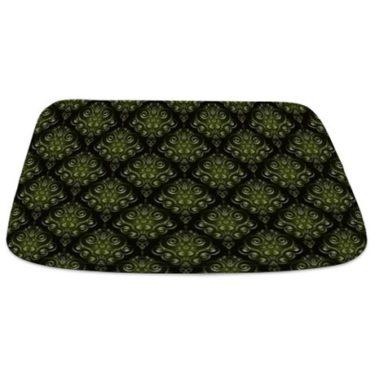 Green Damask 2 Bathmat