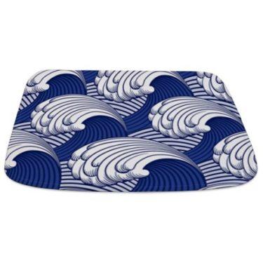 Japanese Waves Bathmat