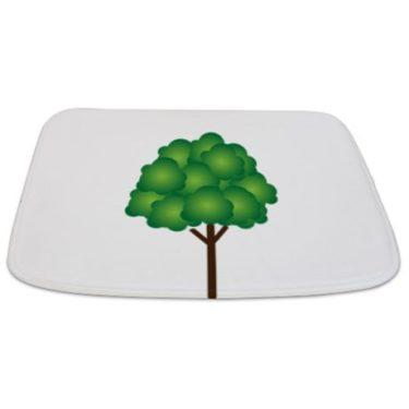 Modern Green Tree 07 Bathmat