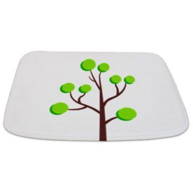 Modern Green Tree 14 Bathmat