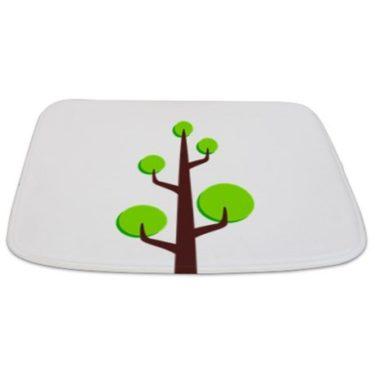 Modern Green Tree 15 Bathmat