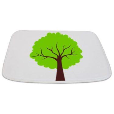 Modern Green Tree 21 Bathmat