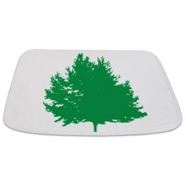 Modern Green Tree 24 Bathmat
