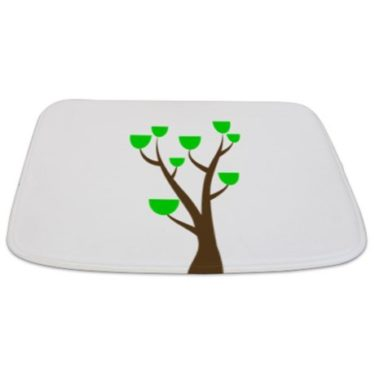 Modern Green Tree 32 Bathmat