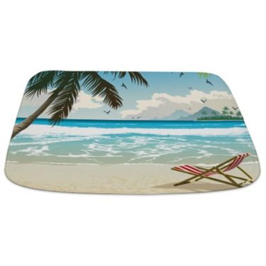 Perfect Beach Day 1a Bathmat