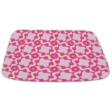 Pink and Beige Pattern 1 Bathmat