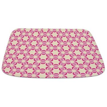 Pink and Beige Pattern 2 Bathmat