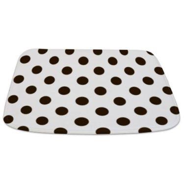 polka dot med Bathmat